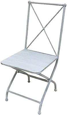 FANGYU Chair Junto de 4 sillas de Comedor de Metal apilables ...