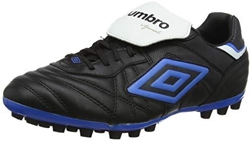 Umbro Speciali Eternal Team, Botas de Fútbol Hombre, Negro Black White Electric Blue A0c, 42 2/3 EU