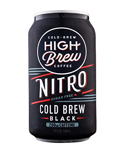 High Brew Coffee Nitro Cold Brew, 10 Ounce Cans, 12 Count
