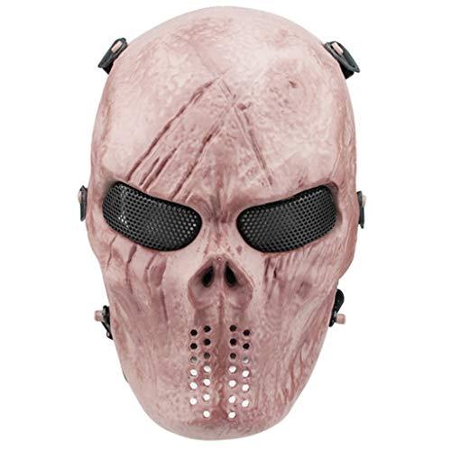 Lowral Skull Airsoft Paintball Mscara de cara completa para Halloween Cosplay CS Wargame Militar