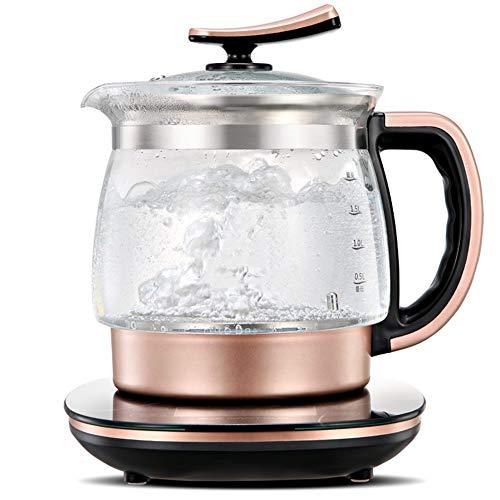 Hervidor electrico de vidrio de 2 litros, tetera inalambrica, hervidor de agua termostatico ecologico con hervidor de temperatura ajustable con colador, apagado automatico y proteccion para hervi