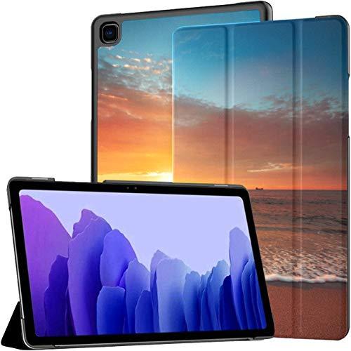 Funda para Tableta Samsung Galaxy Tab A7 de 10,4 Pulgadas 2020 (sm-t500 / t505 / t507), Hermoso Paisaje de Nubes sobre el mar Sunrise Shot Funda con Soporte de múltiples ángulos con activación/susp