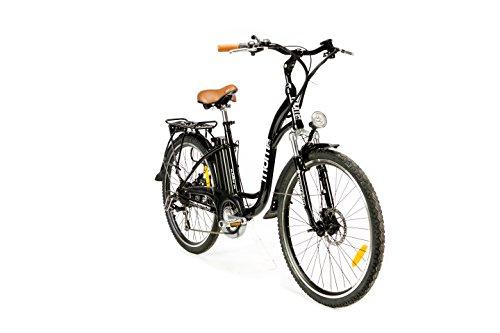 Moma Bikes Bicicleta Electrica, Urbana EBIKE-26 ', Alu. SHIMANO 7V & Doble Freno Disco Bat. Ion...