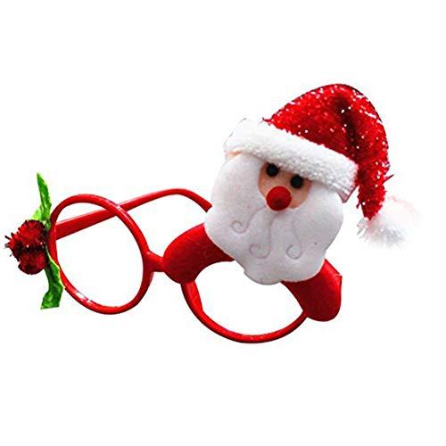 Hemore Accessoire de Noël Lunettes de Noel