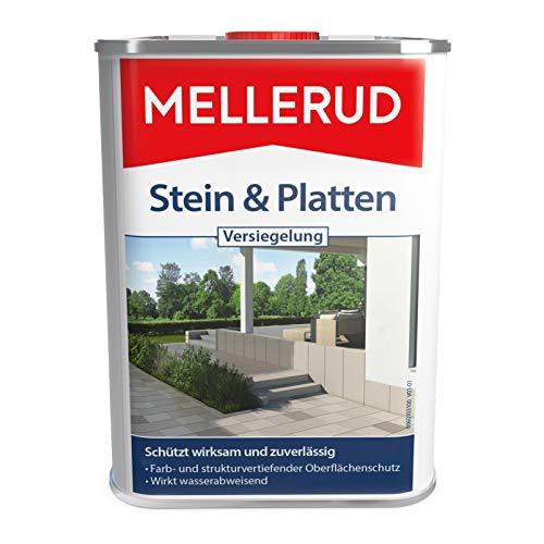 MELLERUD 2001003364 Stein & Platten Versiegelung Wasserabweisender und lichtbeständiger Schutz von saugfähigen Untergründen im Innen- und Außenbereich, 1 x 2,5 l
