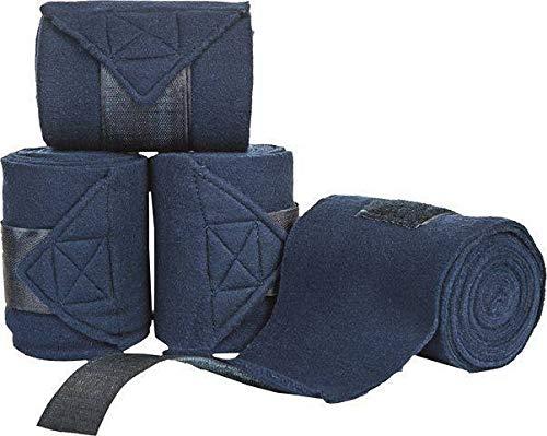 HKM Polarfleecebandagen, 4er Set, dunkelblau, 200 cm