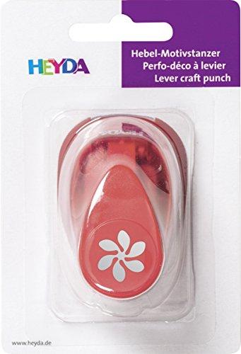 HEYDA - Perforadora de Papel, tamaño pequeño, Color Rojo