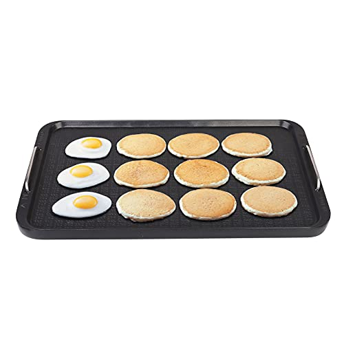 """Camping Griddle,Flat Top Griddle for Stovetop, Two Burner Non-Stick Griddle Pan, Aluminum, 14.96"""" x 8.66"""",Griddle Pan for Charcoal Grill, Hot Plate and Gas Stove Top"""