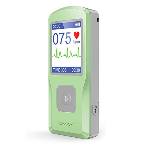 EMAY Personal EKG Monitor | Records ECG & Heart Rate Anytime Anywhere | Software Works with Macbook & Windows PC
