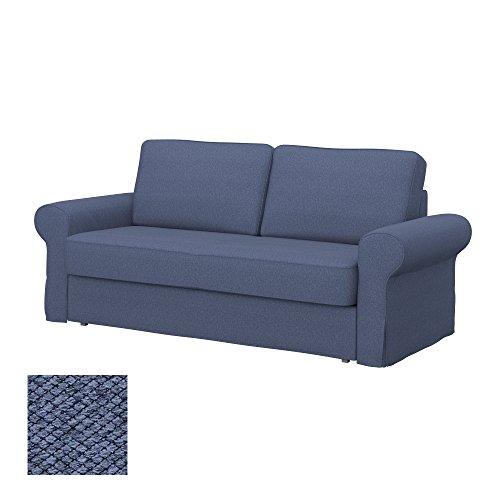 Soferia - IKEA BACKABRO Funda para sofá Cama de 3 plazas, Nordic Denim