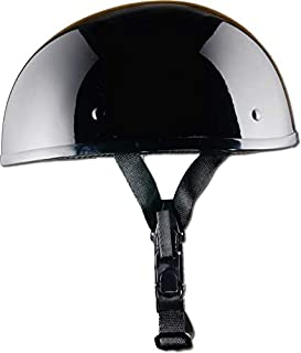 CRAZY AL'S WORLDS SMALLEST DOT HELMET IN GLOSS BLACK WITH OUT VISOR SIZE MEDIUM