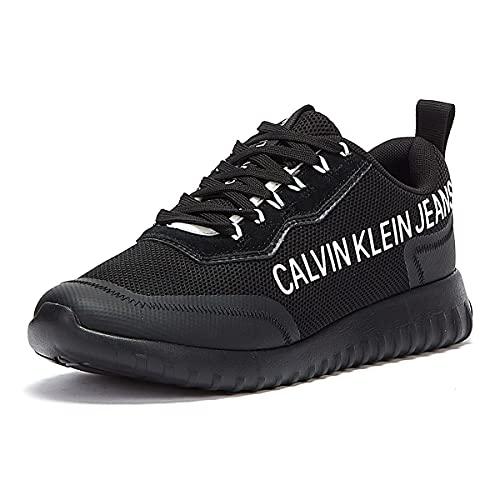 Calvin Klein Jeans Runner Lace Up Eva Inst Mens Black Trainers-UK 6.5 / EU 40
