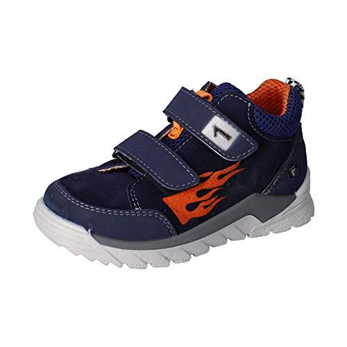 RICOSTA Kinder Low-Top Sneaker Race, Weite: Mittel (WMS),Soundeffekt, Freizeit Halbschuh sportschuh Klettschuh Kinder Kids,Nautic,32 EU / 13 Child UK