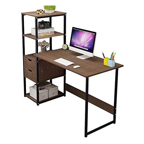 HEMFV Escritorio ergonómico para computadora Escritorio de la computadora, más una pieza de escritorio con almacenaje de la función de Muebles y estaciones de trabajo, ordenadores y accesorios, for el