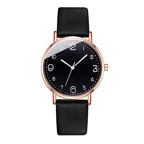 Relojes Para Mujer Pulsera de color de moda diversa concisa de alta gama para mujeres Banda de cuero de cuarzo casual NewV Strap Watch reloj de pulsera analógica Relojes Decorativos Casuales Para Niña