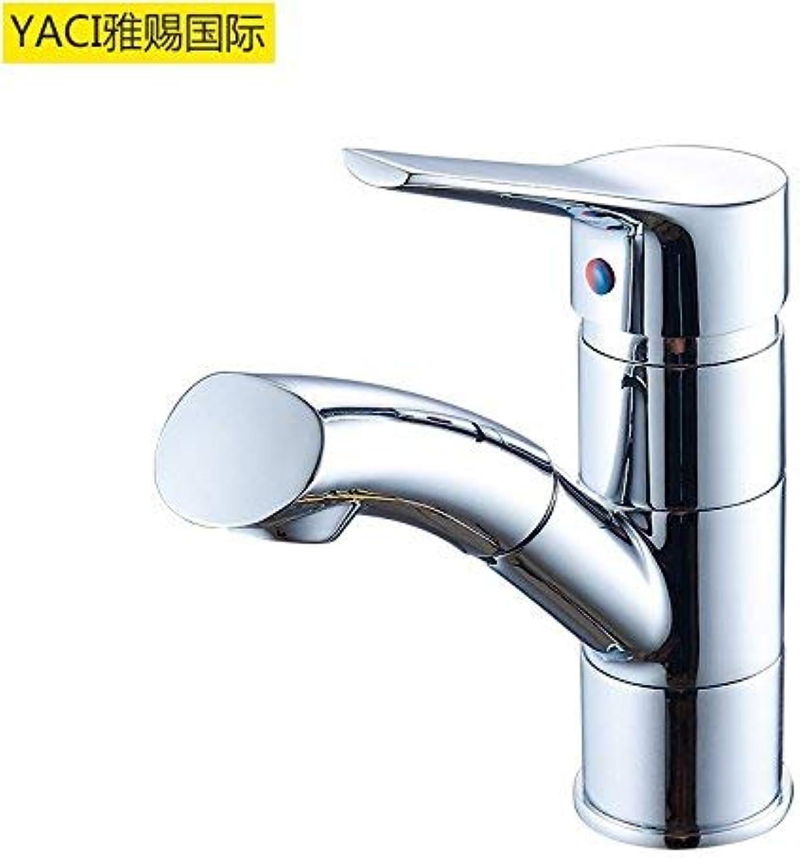 Modern Faucet Copper Pull-Out Faucet Kitchen Sink Faucet Swivel (color   Mpc1004)