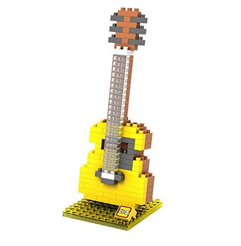 mugesh Nanoblock 3D-Puzzle Gitarre - Schönes Geschenk für Musiker