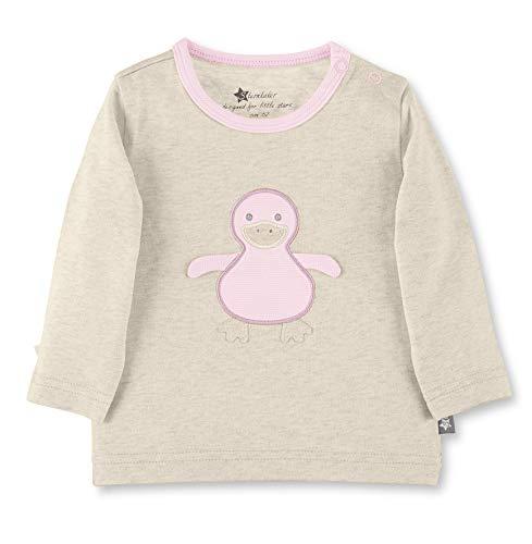 Sterntaler Langarmshirt für Babys und Kleinkinder mit niedlichem Enten-Motiv, Alter: 9-12 Monate, Größe: 80, Beige (Ecru), 5661901