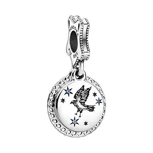 Pandora Harry Potter, Ravenclaw Charm-Anhänger, 798831C01, Silber, 1,38cm