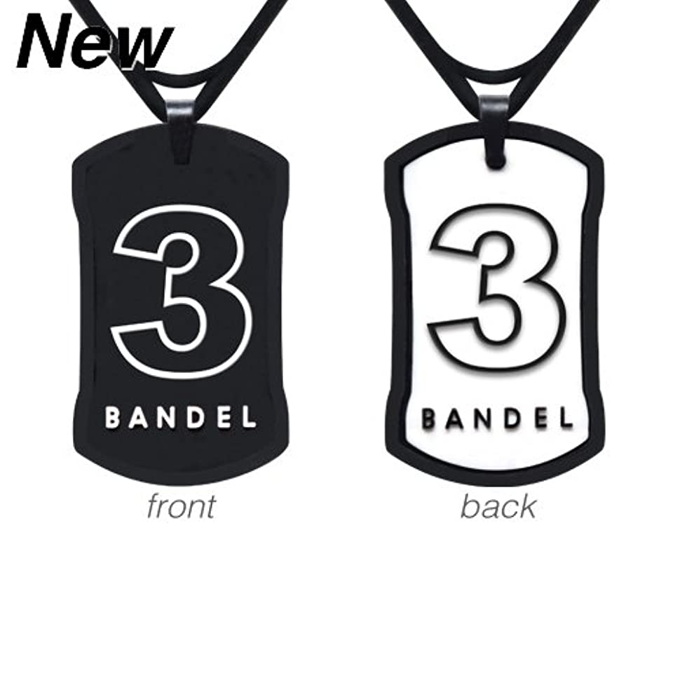 重要予言する経験的バンデル ナンバー ネックレス リバーシブル No.3(ブラック×ホワイト)60cm/ラッキーナンバー シリコン アクセサリー