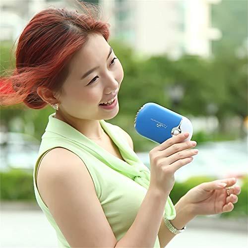 Cwemimifa Mobiles Lokales Klimagerät Transform Für Räume Air Portable Cooler Luftkühler Mobile Klimageräte,USB wiederaufladbarer tragbarer Mini-Handklimaanlagenlüfter,Blau