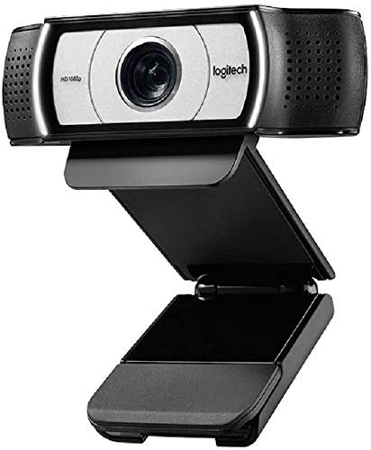 Computer Webcam C930e HD - 4X Zoom 1080p Streaming Widescreen Video Camera - Built in 2 Omni-Directional Mics for Recording, for Computer Desktop and Laptop - Certified for Business
