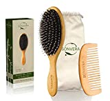 Boar Bristle Bamboo Oval Detangling and Straightening Hair Brush Men Nylon Boars Detangle Hair...