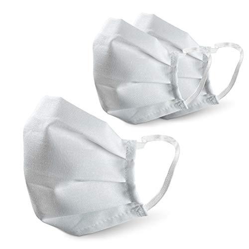 PONGS® Stoff Mund Nasen Maske, waschbar, 100% Baumwolle (Mit Antibac, 3 Stück)