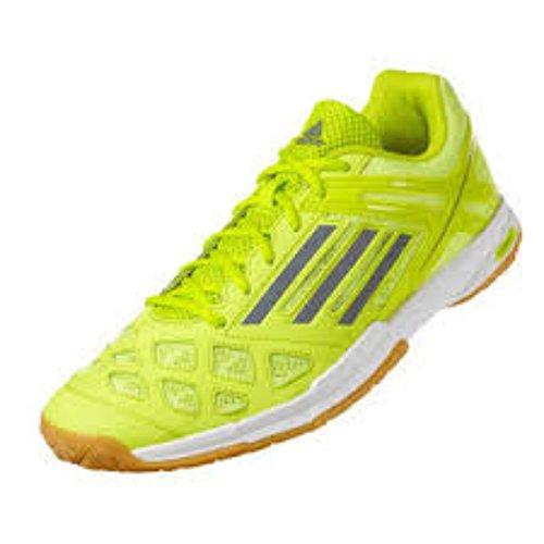 adidas Feather Team Indoor Hallenschuhe Badminton Grün/Gelb/Grau, Schuhgröße:EUR 48