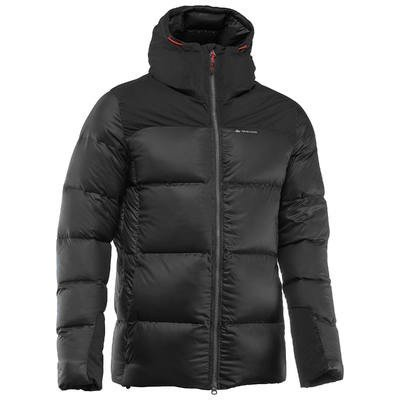 Quechua Men's Top Warm Black Trekking Down Jacket (XXXL)