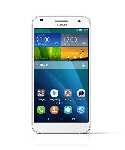 Huawei Ascend G7 Smartphone (13,97 cm (5,5 Zoll) IPS-Bildschirm, 13 Megapixel Kamera, 16 GB Interner Speicher, Android 4.4) weiß/Silber