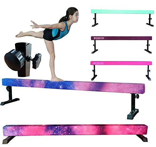 FC FUNCHEER 8FT Adjustable Balance Beam, High and Low Level Gymnastics Competition Style Training Beam with Legs