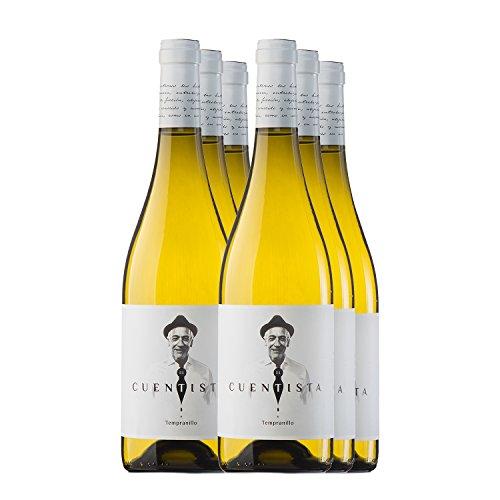 PRADOREY El Cuentista - Vino blanco - 100% Tempranillo - Ribera del Duero - Un blanc de noirs con 9 meses en barrica - 6 BotellaS - 0,75 L