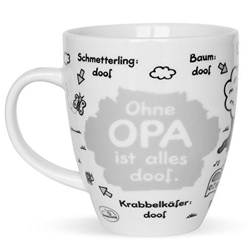 Sheepworld 45136 Tasse mit Motiv Ohne Opa ist alles doof, Porzellan, Geschenk Opa, 45 cl