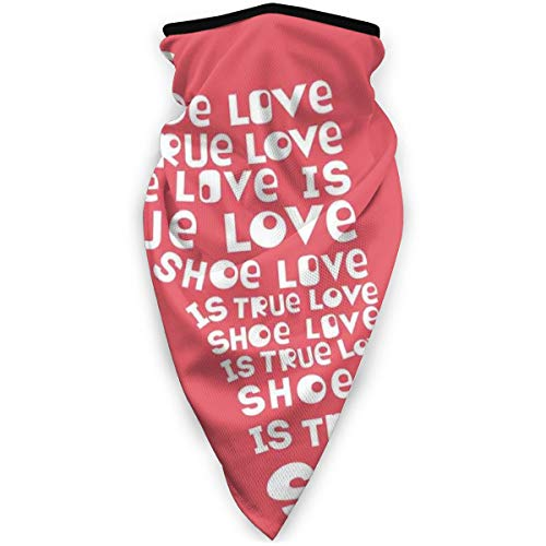 FGHJKL Sports Windbreak MaskShoe Love Is True Love - Zapato de mujer de color con citas divertidas para hombre y mujer