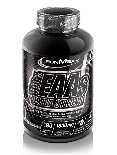 IronMaxx 100% EAAs Ultra Strong - hochdosierte, essentielle EAA-Aminosäuren für Muskelaufbau und Regeneration - 1 x 180 Tabletten