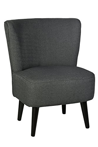 B.U.S. Wohnstyle Sessel Stuhl Loungesessel dunkel grau WS443