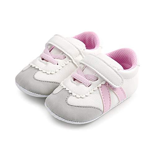 DOTBUY Leinwand Baby Schuhe,DOTBUYJungen Mädchen Schuhe Weich Sohle Anti-Rutsch Lauflernschuhe Krippeschuhe (11cm / 0-6 Monat, Rosa)
