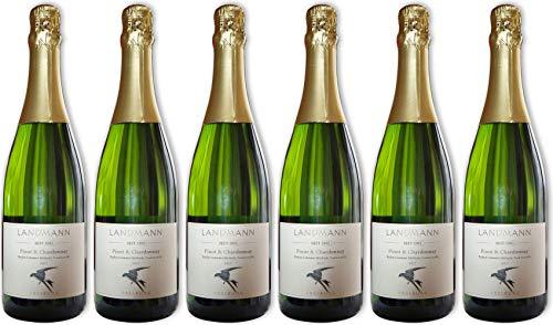 Landmann Baden Crémant Pinot & Chardonnay Brut (herb) Bioland Bio (6 x 0.75 l)