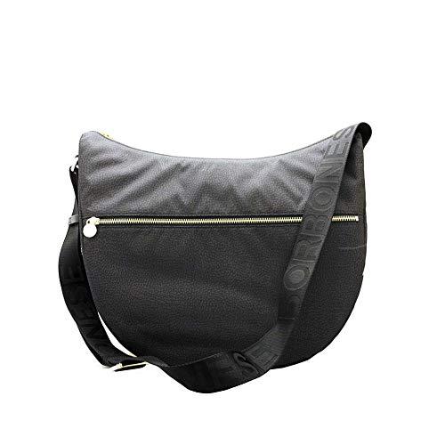 Borbonese Borsa a Tracolla Luna Bag Grande 934109I15 Nero