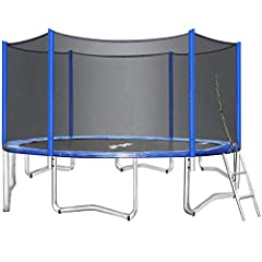 Solid Steel Kids Trampoline - Fully galvanized steel frame for better resistance to rust and corrosion; 6 U-shaped big legs with 12 balanced contact points for better stability and safety. This heavy duty JUPA trampoline is the 2020 newest gift for k...