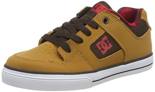 DC Shoes Jungen Pure Se - Shoes for Boys Skateboardschuhe, Wheat, 37 EU