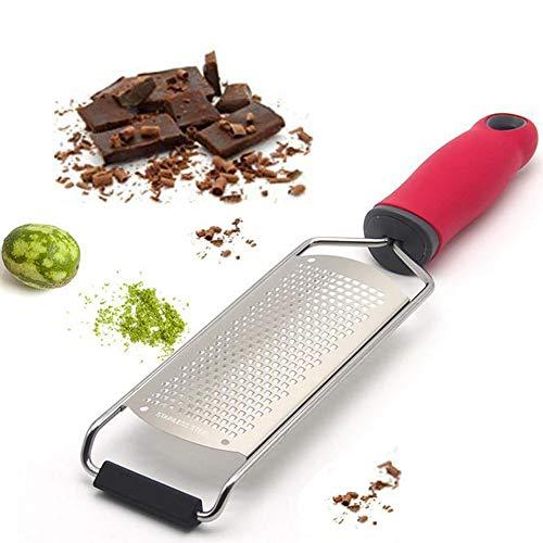 PLKZ Slicer Küchen Mandolinen Lebensmittel Schneider Käsereibe Ingwer Muskat Zitrone Knoblauch-Red-Küchengerät Veggie Rotierende Reibe