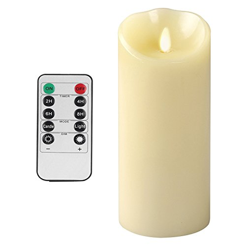 OxoxO 3' Height 9'/22CM Flameless Candles Sway Flicker Real Wax Pillar LED Candles Battery Operated And 10-key Remote control With 24-hour Timer