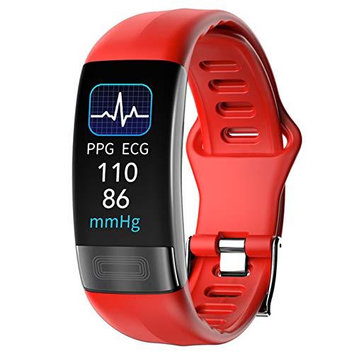 QAK Pulsera Inteligente P11 Monitoreo De Salud para Hombres Y Mujeres Deportivas Pulsera Impermeable Pulsera Inteligente Pulsera Deportiva para Android iOS,C