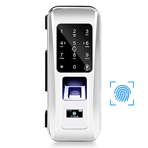 Smart Digital Türschloss, Türöffnung per Fingerabdruck/Passwort/Chipkarte/Fernbedienung für Schlüsselloses Elektronisches Schloss für Daheim Sekretariat
