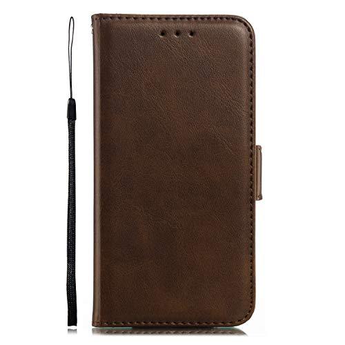 Miagon für iPhone 8/7 Lederhülle,Luxuriöse Stilvoll Lanyard Premium Pu Leder Kartenfach Magnetverschluss Flip Brieftasche Etui Schutzhülle mit Standfunktion