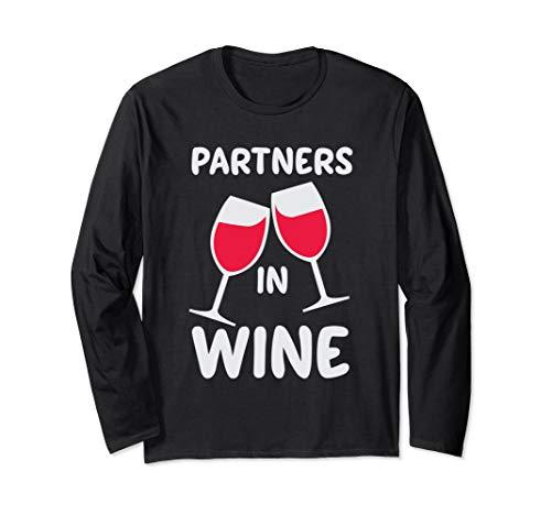 Partner In Wein Lustig, Niedlich, Rot, Weiß Wein-Liebhaber Langarmshirt