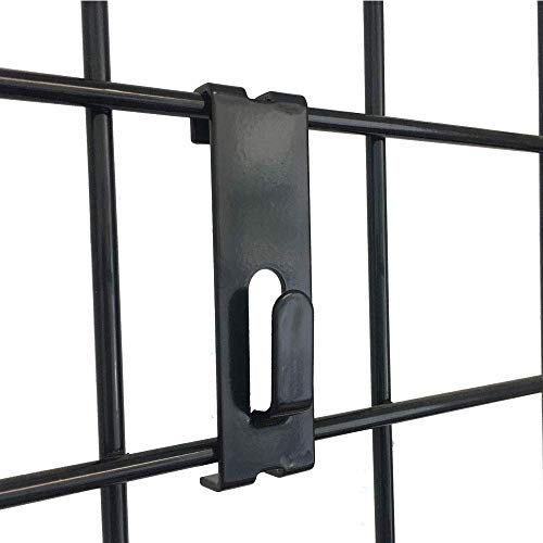 Only Hangers Gridwall Utility Hook for Grid Panel Display-Picture Notch-Box of 25 Pieces-Black