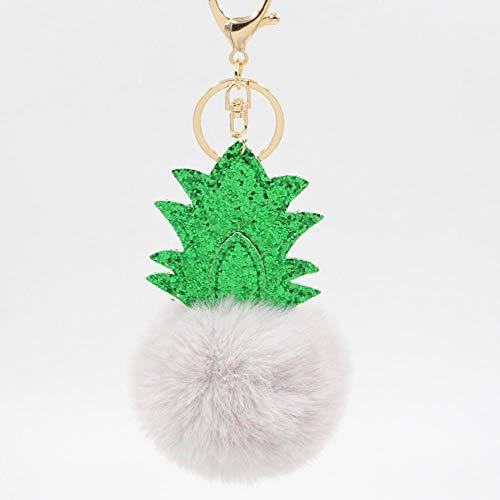 ou lida 8cm Ananas Weihnachtsbaum Plüsch Schlüsselanhänger Anhänger Handtasche Anhänger Schlüsseltasche Schmuck 18